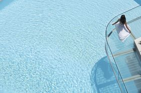 The sapphire swimming pool at Galaxy Hotel 5* Luxury city hotel in Heraklion